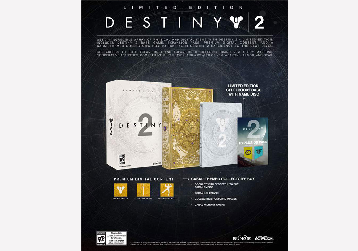 Destiny 2 collectors edition for sale - Limited Edition For 99 Destiny 2