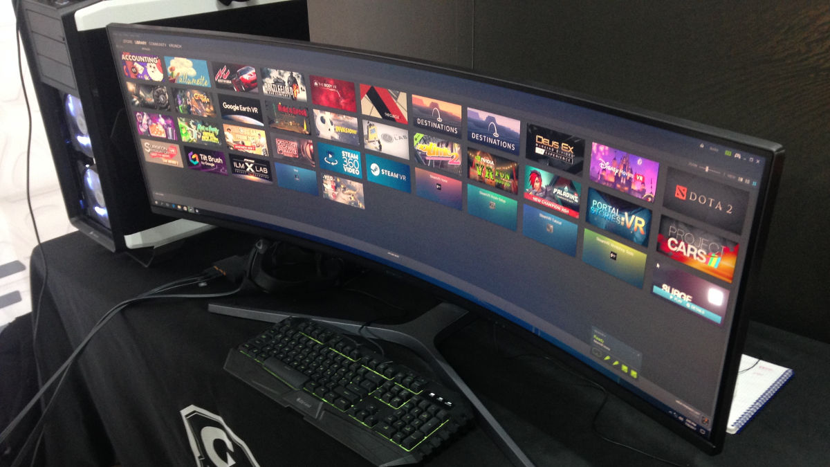 Hands On With The Samsung 49 Chg90 Qled Gaming Monitor