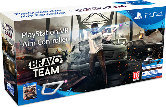 PlayStation VR Aim Controller + Bravo Team (PlayStation VR Required)