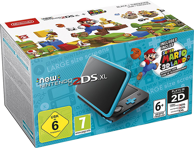 New Nintendo 2DS XL + Super Mario 3D Land Download Code