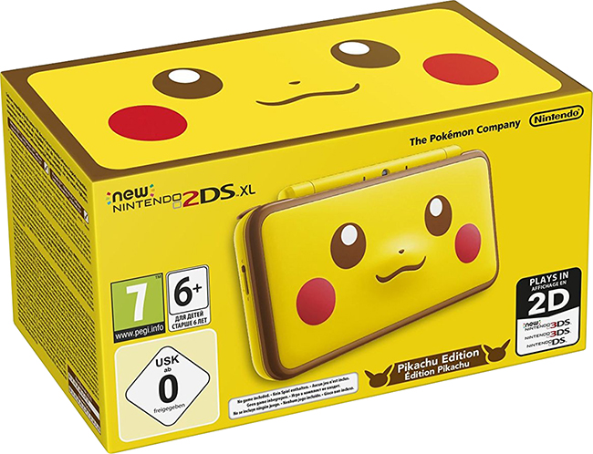 New Nintendo 2DS XL Pikachu Edition (Yellow)